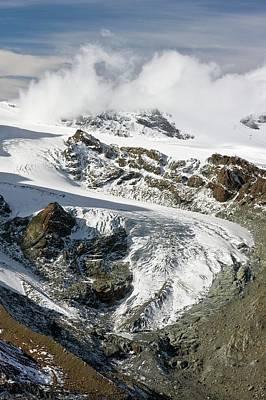 Snow-covered Landscape Photograph - Gorner Glacier by Bob Gibbons