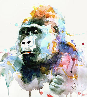 Painting - Gorrilla by Steven Ponsford