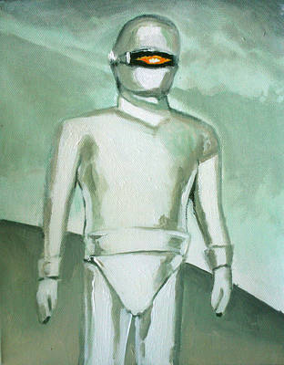 1950 Movies Painting - Gort From The Day The Earth Stood Still by Paul Mitchell