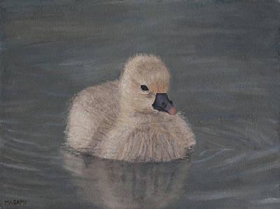 Painting - Gosling by Masami Iida