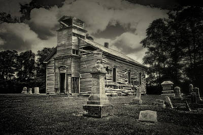 Black And White Photograph - Gospel Center Church II by Tom Mc Nemar