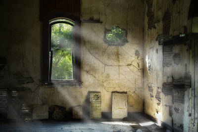 Rural Decay Photograph - Gospel Center Church Interior by Tom Mc Nemar
