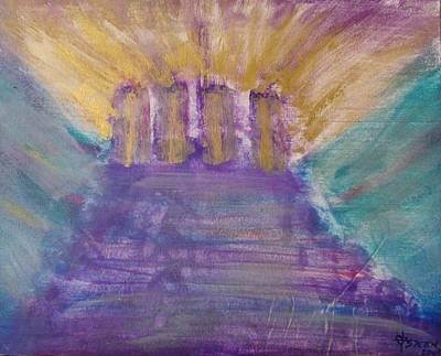 Painting - Gospel Pillars by Christine Nichols