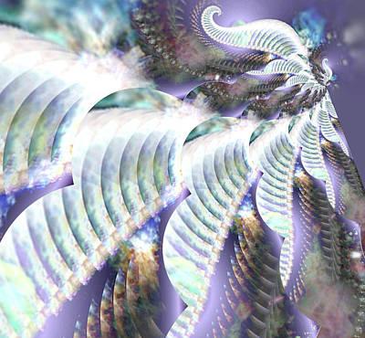 Cs5 Digital Art - Gossamer Flight Of The Goddess by Rebecca Phillips
