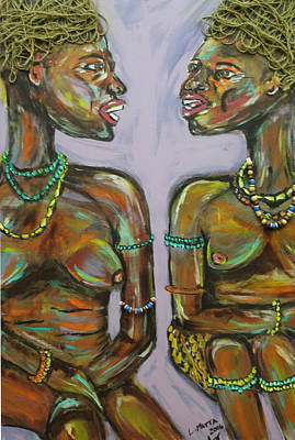 Art Print featuring the painting Gossip by Lucy Matta