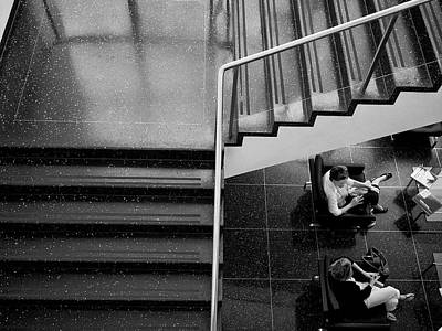 Photograph - Gossip Under The Stairs by Cornelis Verwaal