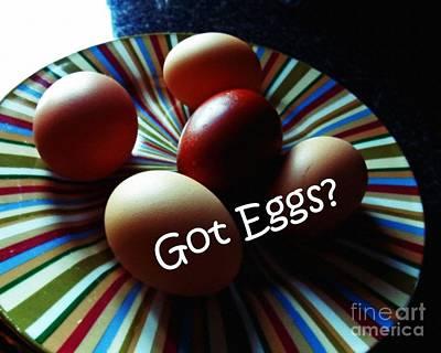 Got Eggs Art Print by Anita Faye