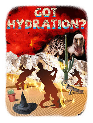 Got Hydration? Art Print by Mark Armstrong