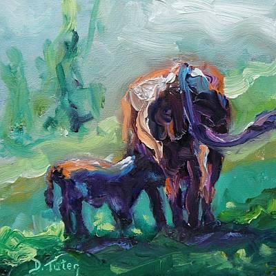 Cow Painting - Got Milk by Donna Tuten