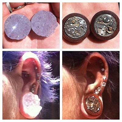 Steampunk Photograph - Got My New Plugs From Alternative Earth by Rikki Goodwin