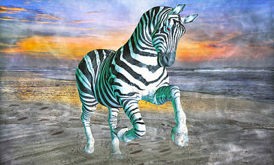 Surrealism Mixed Media Rights Managed Images - Got My Stripes Royalty-Free Image by Betsy Knapp