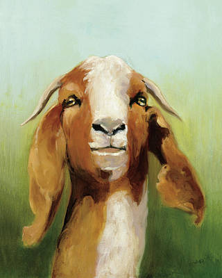 Goat Wall Art - Painting - Got Your Goat V2 by Julia Purinton