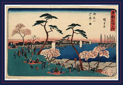 Seacoast Drawing - Gotenyama Hanazakari No Zu by Utagawa Hiroshige Also And? Hiroshige (1797-1858), Japanese