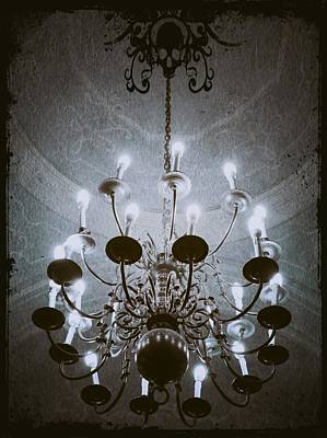 Abstract Expressionist Photograph - Goth Chandelier by Marianna Mills