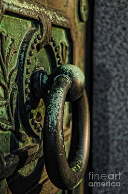 Old Door Photograph - Goth - Crypt Door Knocker by Paul Ward