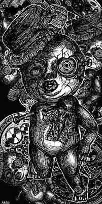 Goth Doll Art Print by Akiko Okabe