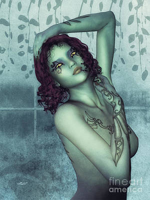 Digital Art - Goth Girl by Jutta Maria Pusl