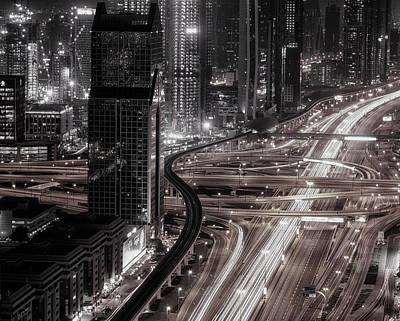 Traffic Photograph - Gotham by Ahmed Thabet