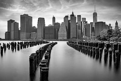 Brooklyn Bridge Photograph - Gotham City New York City by Susan Candelario