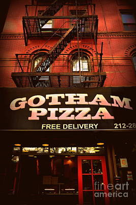 Photograph - Gotham Pizza by Miriam Danar