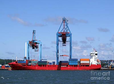 Photograph - Gothenburg Harbour 09 by Antony McAulay
