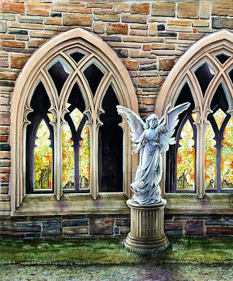Painting - Gothic Angel by Carolyn Coffey Wallace