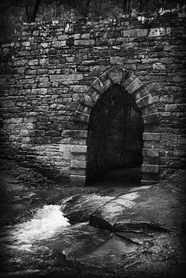 Photograph - Gothic Arch Over Stream by Kelly Hazel