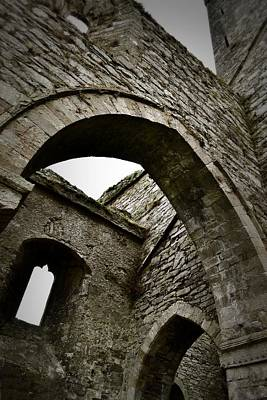 Photograph - Gothic Arches At Jerpoint Abbey by Nadalyn Larsen