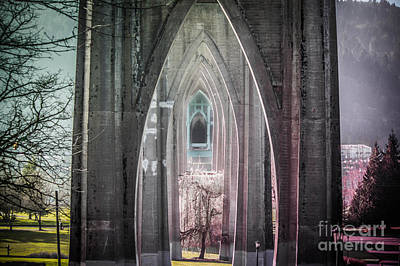 Photograph - Gothic Arches Hands Folded In Prayer by Patricia Babbitt