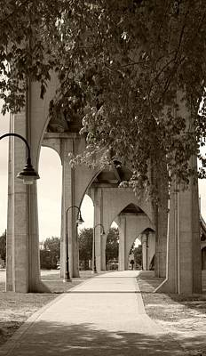 Photograph - Gothic Arches Supporting The Waccamaw Bridge Sepia by MM Anderson