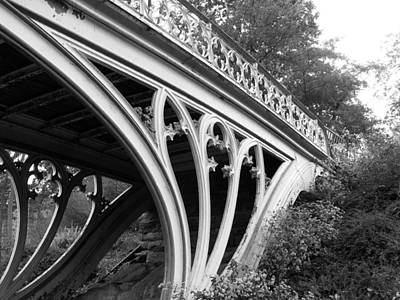 Monochromatic Digital Art - Gothic Bridge Design by Jessica Jenney