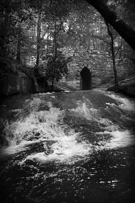 Black And White Photograph - Gothic Bridge by Kelly Hazel