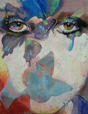 Female Portrait Painting - Gothic Butterflies by Michael Creese