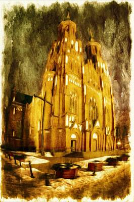 Gothic Mixed Media - Gothic Cathedral by Jaroslaw Grudzinski