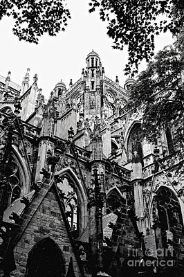 Gothic Cathedral Of Den Bosch Art Print by Carol Groenen
