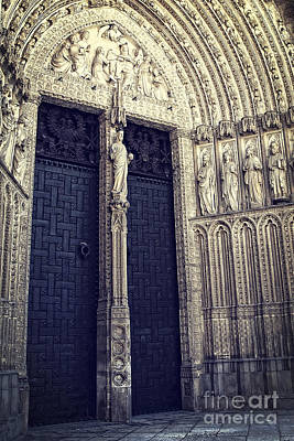 Medieval Temple Photograph - Gothic Cathedral Toledo by Ivy Ho