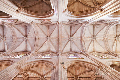 Gothic Ceiling Of The Batalha Monastery Church Art Print by Jose Elias - Sofia Pereira