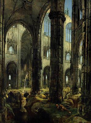 Christian Artwork Painting - Gothic Church Ruins by Mountain Dreams