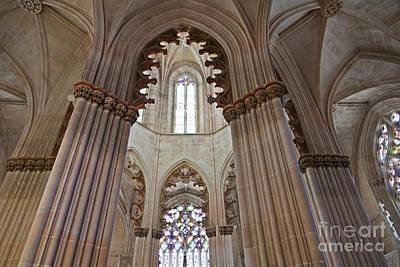 Monastery Photograph - Gothic Columns by Jose Elias - Sofia Pereira
