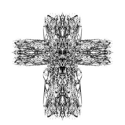 Digital Art - Gothic Cross by Zac AlleyWalker Lowing