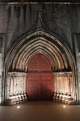 Gothic Portal To The Igreja Do Carmo In Lisbon Art Print by Artur Bogacki