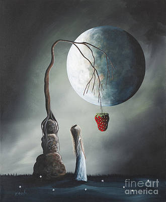 Big Moon Painting - Gothic Fantasy Art By Shawna Erback So Tempting by Shawna Erback
