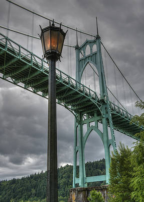 Photograph - Gothic Lamp And Bridge by Loree Johnson