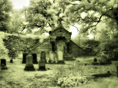 Gothic Mausoleum Art Print by Gothicrow Images