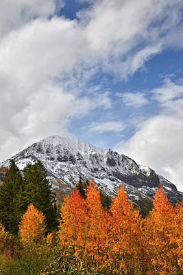 Photograph - Gothic Mountain Fall Colors by Ray Mathis