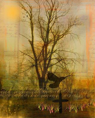 Gothic Nature Collage Art Print