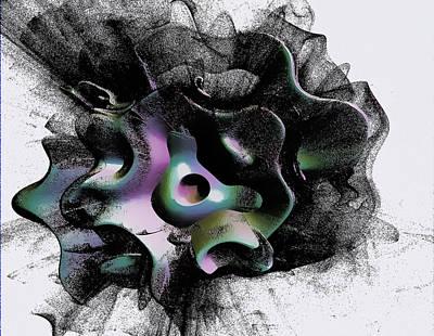 Fractal Digital Art - Gothic Orbit by Betsy Jones