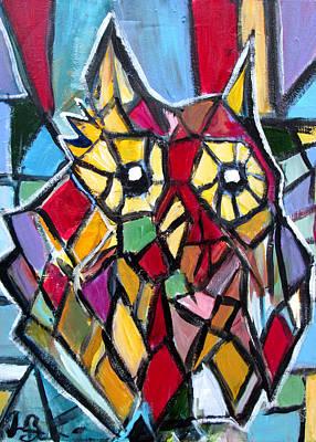 Painting - Gothic Owl  by Jon Baldwin  Art