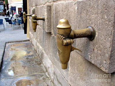 Barcelona Photograph - Gothic Quarter Taps by Greg Mason Burns