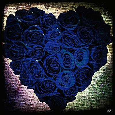 Digital Art - Gothic Romance - Blue Roses by Absinthe Art By Michelle LeAnn Scott